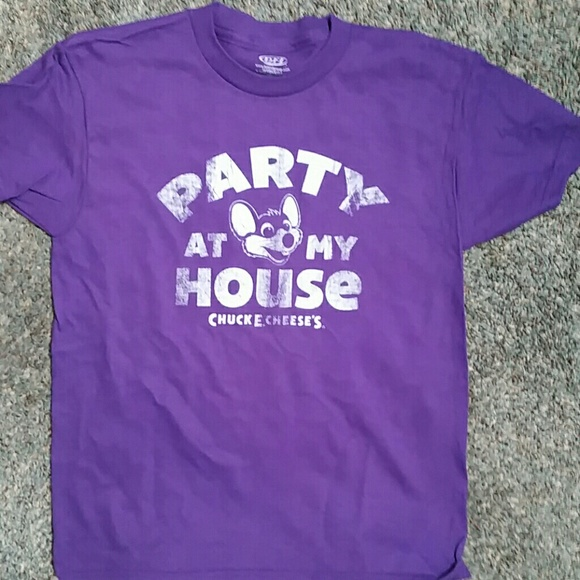 79411502 Shirts & Tops | Chuck E Cheeses Party At My House Tee | Poshmark
